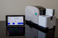 Native LIS integration microscope slide printer